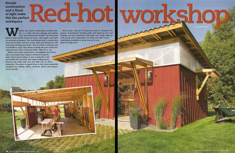 Wood Work Family Handyman Shed PDF Plans